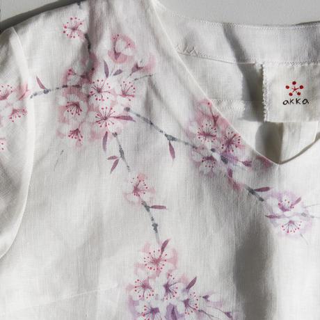 リネン・長袖ブラウス 桜