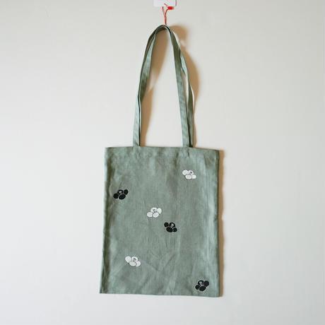 手提げバッグ うぐいす色 椿