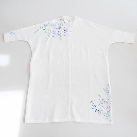 スタンドカラーシャツドレス 萩