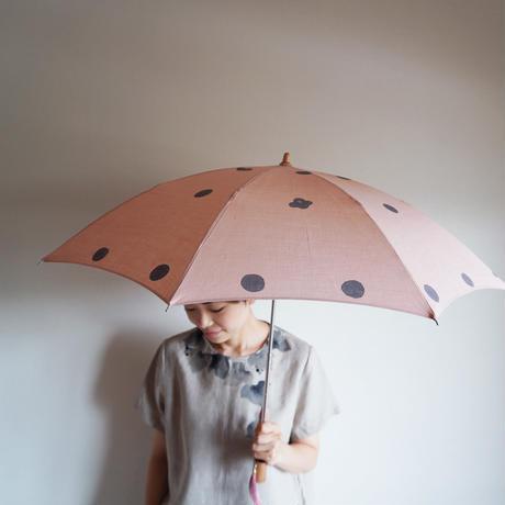 日傘・ピンク<ドット椿>