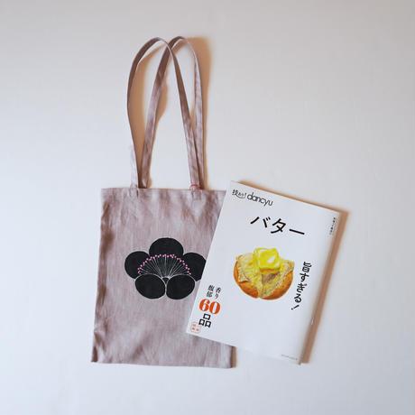 手提げバッグ くすみピンク 香り梅