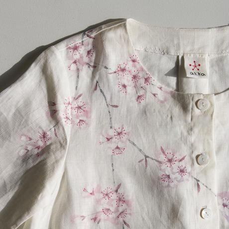 リネンコートワンピース 桜