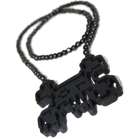 TOSHO [  + -  ] BONES2BOIL black necklace