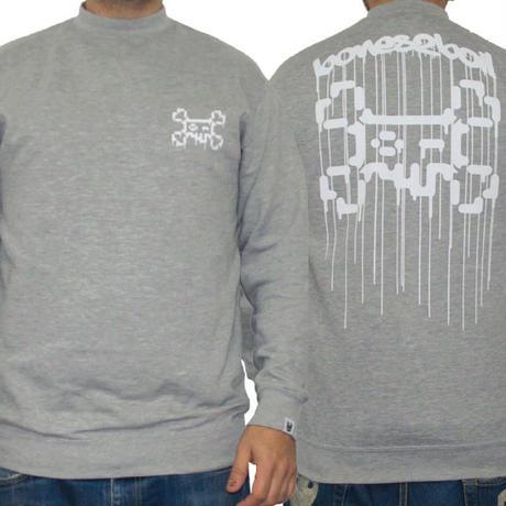 TOSHO [  + -  ] BONES2BOIL grey sweatshirt