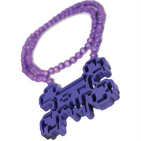 TOSHO [  + -  ] BONES2BOIL violet necklace