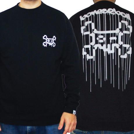 TOSHO [  + -  ] BONES2BOIL black sweatshirt