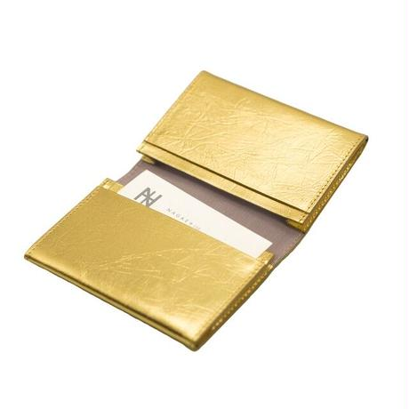【NAGAE+】TIN BREATH Business card case double Gold
