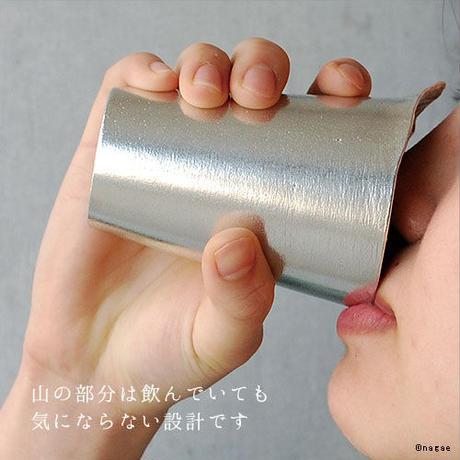 【銀雅堂】錫製 ビール タンブラー グラス 富士山 泡雲2個セット
