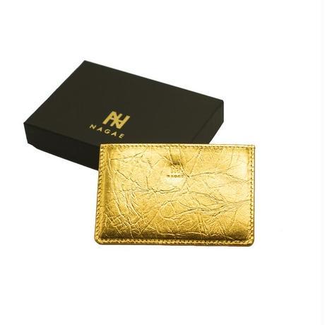 【NAGAE+】TIN BREATH Business card case single Gold