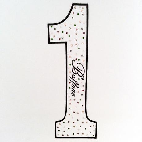 【BUFFONE】No.2 White/スワロフスキー T-Shirt
