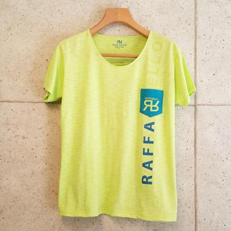 【RAFFAELLO】YELLOW GREEN ROUND NECK T-Shirt