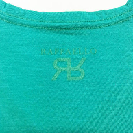 【RAFFAELLO】GREEN V NECK T-Shirt