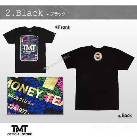 【THE MONEY TEAM】DOUBLE DOWN トランプ柄 Black T-Shirt