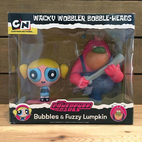POWERPUFF GIRLS  Bubbles & Fuzzy Lumpkin Bobble Heads/パワーパフガールズ バブルス & ファジー・ランプキン ボブルヘッド/181109-1