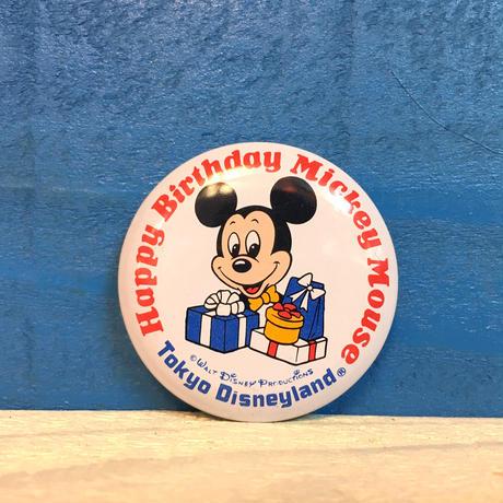 Disney TDL Happy Birthday Mickey Button/ディズニー 東京ディズニーランド ハッピーバースデーミッキー缶バッジ/171013-11