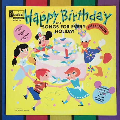 Disney Happy Birthday Record/ ディズニー ハッピーバースデー レコード/160722-9