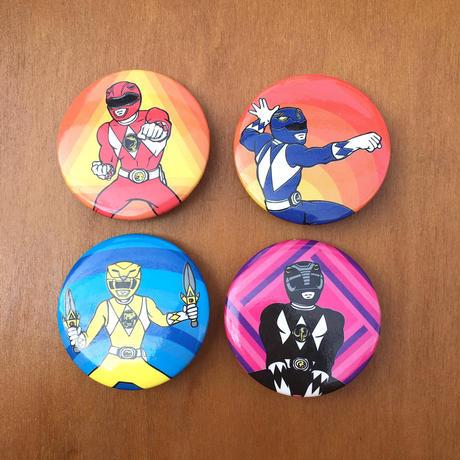 POWER RANGERS Button/パワーレンジャー 缶バッジ/170819-8
