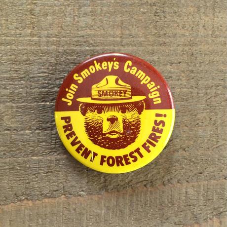 SMOKEY BEAR Bottun/スモーキーベア 缶バッジ/190527-4