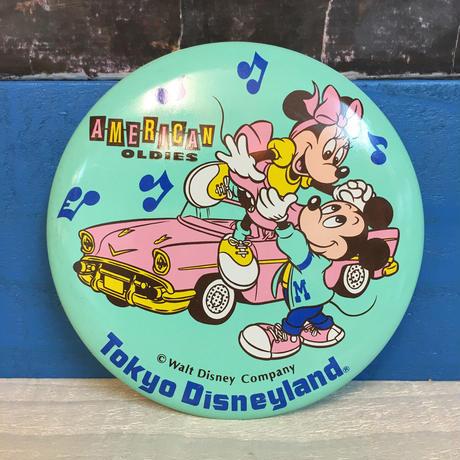 Disney TDL American Oldies Button/ディズニー 東京ディズニーランド アメリカンオールディーズ 缶バッジ/171013-4