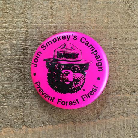 SMOKEY BEAR Bottun/スモーキーベア 缶バッジ/190527-2