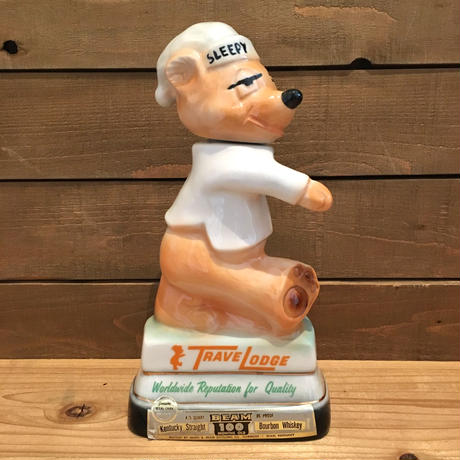 TRAVE LODGE Sleepy Bear Ceramic Decanter/トラベロッジ スリーピーベア セラミックデキャンタ/190401-4