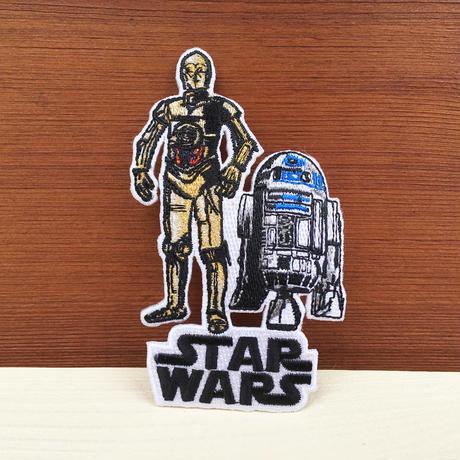 STAR WARS C-3PO & R2-D2 Patch/スターウォーズ C-3PO & R2-D2 アイロンワッペン/180203-7