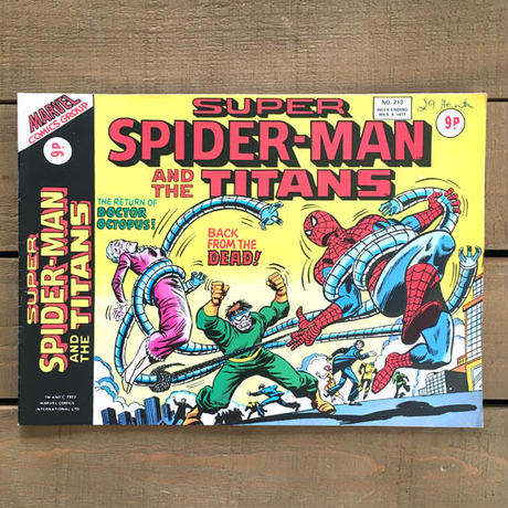 SPIDER-MAN Super Spider-man and the Titans Comics 1977.Mar.213/スパイダーマン コミック 1977年3月213号/190425-8