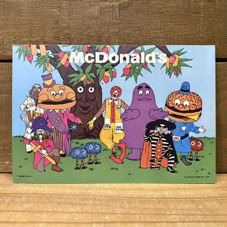 McDonald's Post Card/マクドナルド ポストカード/201222-3