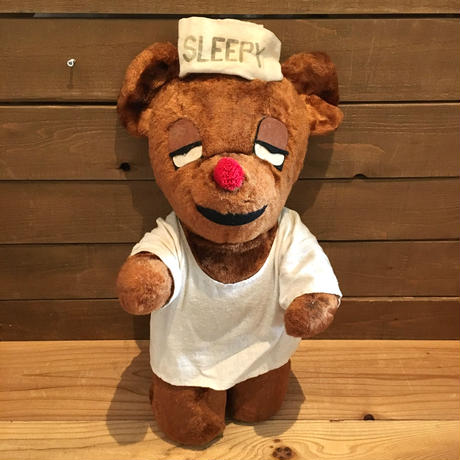 TRAVE LODGE Sleepy Bear Plush Doll Big Size/トラベロッジ スリーピーベア ぬいぐるみ ビッグサイズ/190401-3