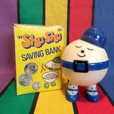 Shu Shu Saving Bank Blue/シュシュ 貯金箱 青/160413-9