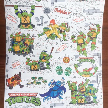 TURTLES Wall Paper Sticker(cut)/タートルズ ウォールペーパー ステッカー  (切り売り)/180116-1