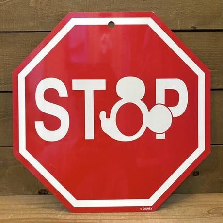 Disney Stop Road Sign/ディズニー ストップ ロードサイン/210711-6