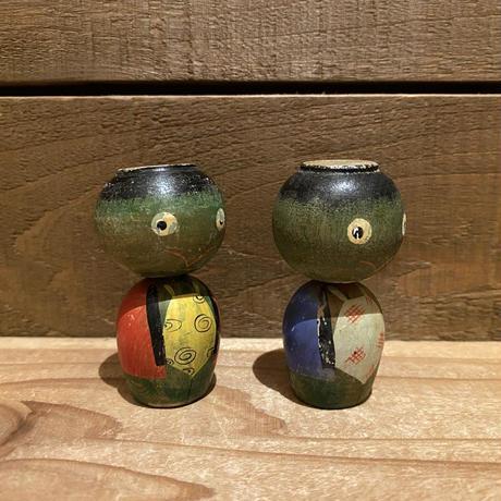 河童のペアこけし 置物/200408-18