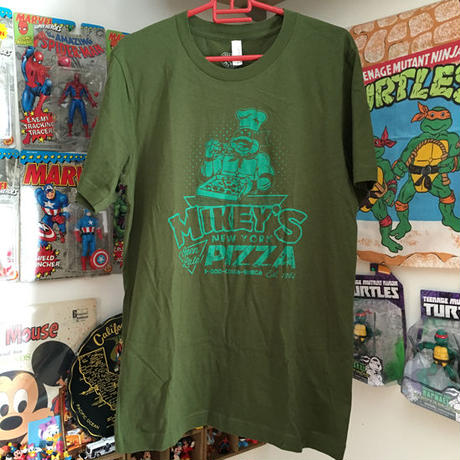TURTLES Mikey's Pizza T Shirt Olive/タートルズ マイキーズピザ Tシャツ オリーブ/160301-3