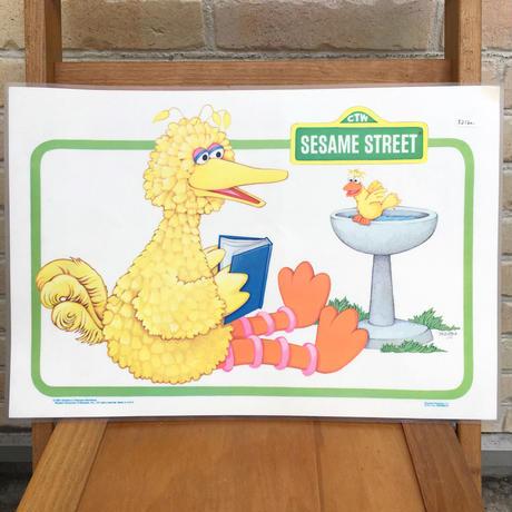 SESAME STREET Big Bird Place Mat/セサミストリート ビッグバード プレイスマット/170719-6