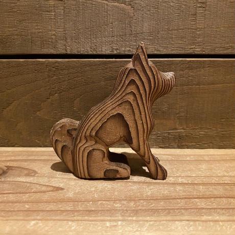 木彫りの犬 置物/200408-2