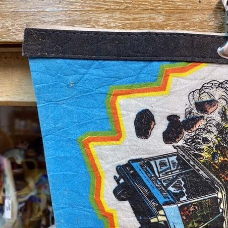 UNIVERSAL STUDIOS Earth Quake Souvenir Pennant/ユニバーサルスタジオ アースクエイク スーベニアペナント/210210-2