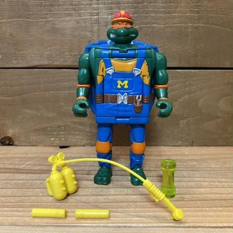 TURTLES Construction Mutation Mike Figure/タートルズ マシンミューテーション・ミケランジェロ フィギュア/210718-2