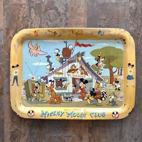 Disney Mickey Mouse Club Tin  Tray/ディズニー ミッキーマウスクラブ トレイ/210620−1