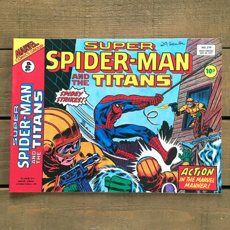 SPIDER-MAN Super Spider-man and the Titans Comics 1977.Apr.219/スパイダーマン コミック 1977年4月219号/190425-12