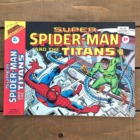 SPIDER-MAN Super Spider-man and the Titans Comics 1977.Mar.214/スパイダーマン コミック 1977年3月214号/190425-9