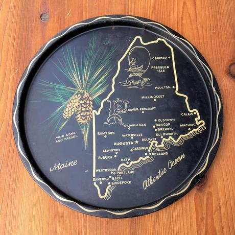 State Of Maine Souvenir Tray/メイン州 スーベニアトレイ/190908-2