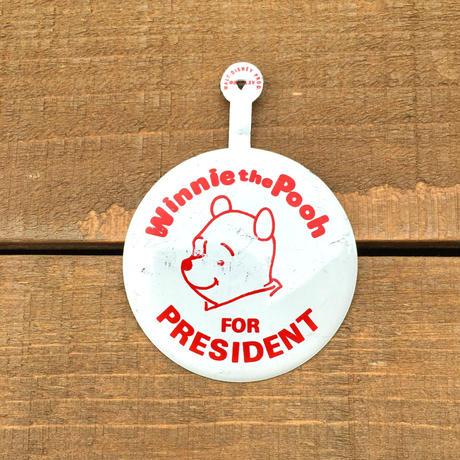 Winnie-the-Pooh  Pooh Bottun/くまのプーさん プーさん 缶バッジ/190512-8