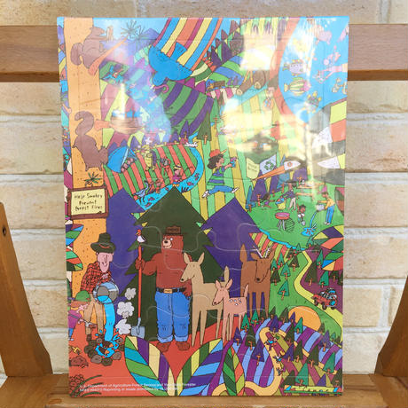 SMOKEY BEAR Smokey Bear Tray Puzzle/スモーキーベア トレイパズル/170902-3