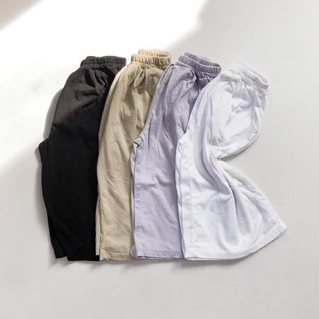 basic wide pants / ワイドパンツ/ イージーパンツ / ブラック / ベージュ / ラベンダー