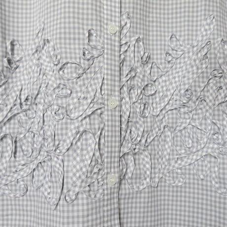 ギンガムテープ刺繍*ワンピース (11FA004)