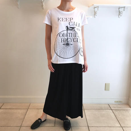 ソフト天竺/BICYCLEプリント*Tシャツ (91UTS011)