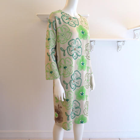 ストレッチポンチ刺繍*ワンピース (91UA004)