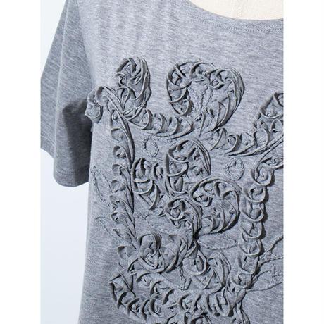 コットン天竺 コード&テープ刺繍*チュニック(11UAS025)