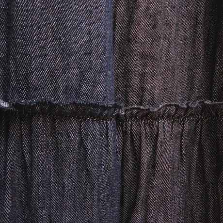Wガーゼデニム*ティアードスカート (0CFS704)